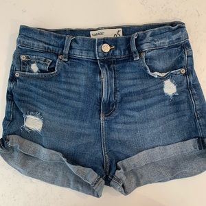 Retro High Wasted Jean Shorts